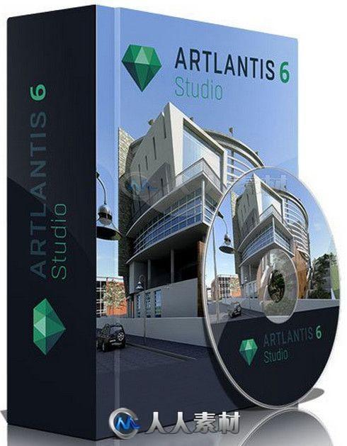 Abvent Artlantis Studio建筑场景专业渲染软件V6.0.2.20版 Abvent Artlantis Studio 6.0.2.20 Win