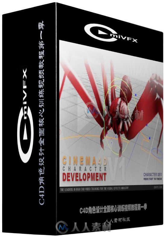 C4D角色设计全面核心训练视频教程第一季 cmiVFX Cinema 4D Character Development Volume 1