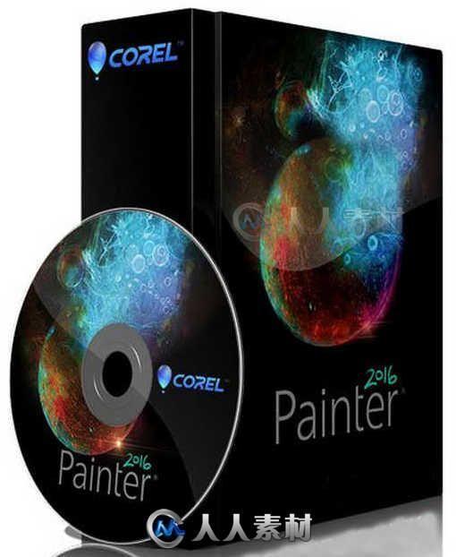 Painter数字美术绘画软件V2016 Update 1版 Corel Painter v2016 Update 1 XFORCE