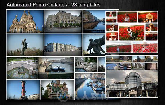 照片自动拼图处理PSD模板 Graphicriver Automated Photo Collages Bundle 9405991