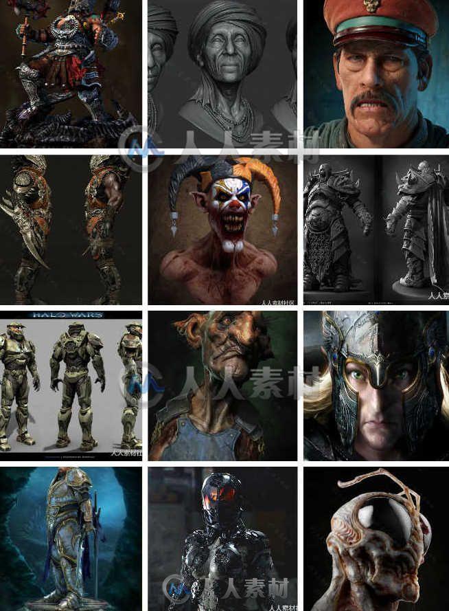 Zbrush作品3D大神模型设计参考-CG游戏原画设定大合集