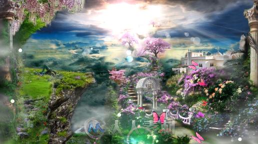 森系婚礼唯美欧式田园童话仙境城堡花瓣婚庆led视频