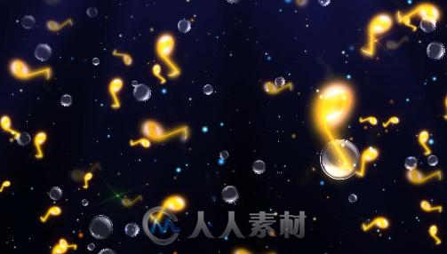 视频素材 〗 69 可爱音符星光气泡儿童背景唯美