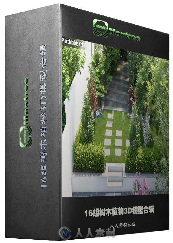 16组树木植物3D模型合辑 MaxTree Plant Models Vol 2