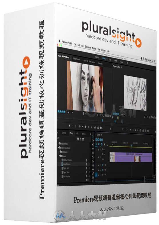 Premiere视频编辑基础核心训练视频教程 Pluralsight Premiere Pro CC Fundamentals