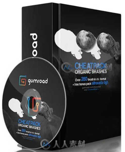 280组有机生物细胞造型PS笔刷合辑 GUMROAD 280 ORGANIC BRUSHES PART 3 OLEG VDOVENKO