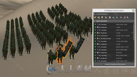 Golaem Crowd人群模拟渲染Maya插件V6.2.3版