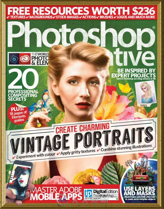 Photoshop创意杂志2016年第137期 PHOTOSHOP CREATIVE ISSUE 137 2016