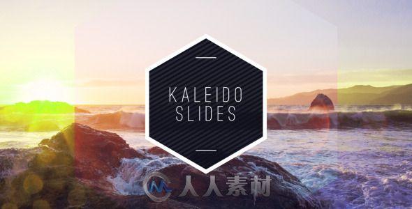 万花筒艺术特效展示动画AE模板 Videohive KaleidoSlides 12419683