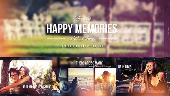 超唯美幸福回忆相册动画AE模板 Videohive Happy Memories 12111120