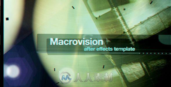 微光胶卷快闪胶片展示动画AE模板 Videohive Macrovision 2021686