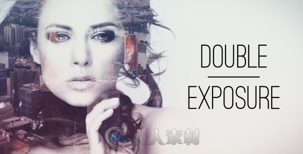唯美时尚风格相册动画AE模板 Videohive Double Exposure Parallax Titles 15376270