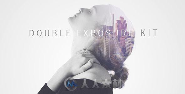 双重幻觉叠加重影展示动画AE模板 Videohive Double Exposure Kit 13492043