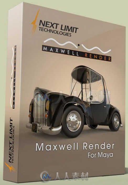 Maxwell Render麦克斯韦光谱渲染器Maya插件V3.2.12版 NextLimit Maxwell Render for Maya v3.2.12 Win Mac