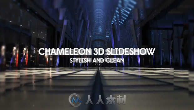 3D美丽变换相册动画AE模板 Pond5 Chameleon 3D Slideshow