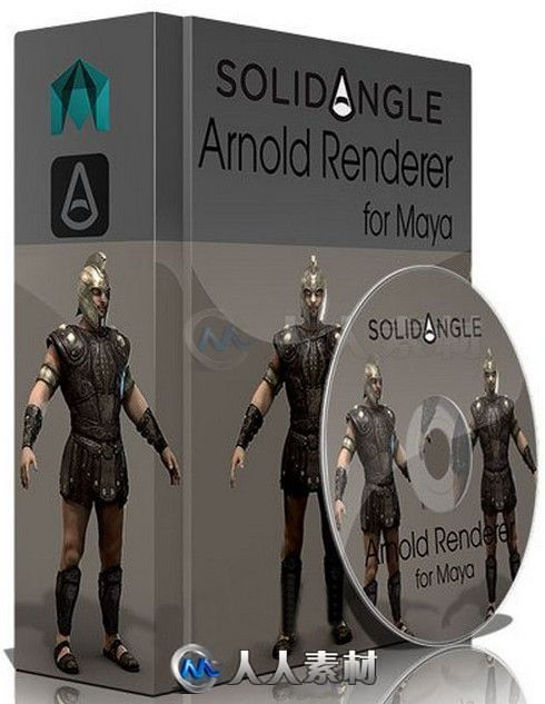 MtoA Arnold光线特效渲染Maya插件V1.2.7.3扩展版 SolidAngle MtoA 1.2.7.3 For Maya 2015 - 2016 Ext2 Win