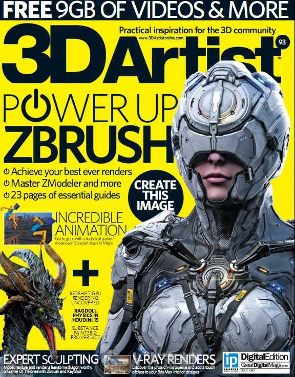 3D艺术家书籍杂志第93期 3D Artist Issue 93 2016
