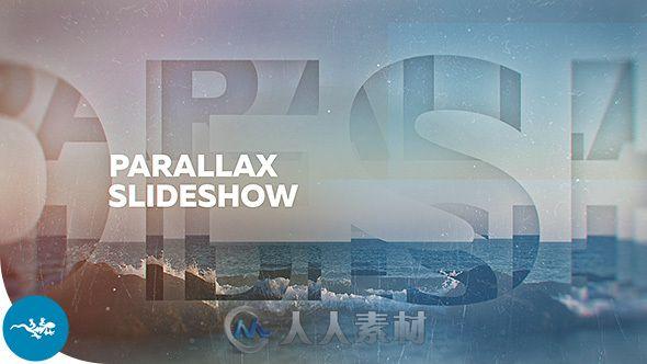 穿越时空唯美画风展示动画AE模板 Videohive Parallax Slideshow 14839696