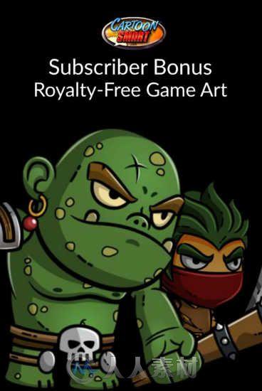 Cartoonsmart出品欧美游戏卡通美术资料包合辑 Cartoonsmart royalty free game art april 2016