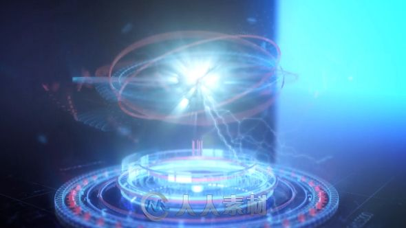 未来派能量汇聚概念设计手指点击Logo演绎动画AE模板 Videohive Futuristic Energy Circles Logo 15092126