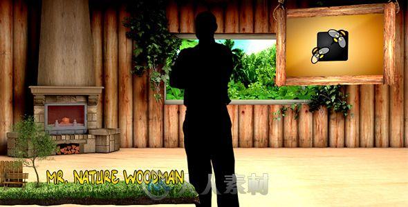 卡通自然小屋展示动画AE模板 Videohive Cartoon Natural Studio 6820538