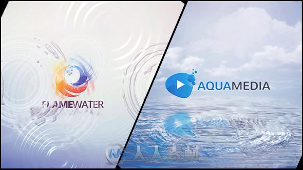 水波纹颤动Logo演绎动画AE模板 Videohive Clean Logo V03 Water Ripples 8960200
