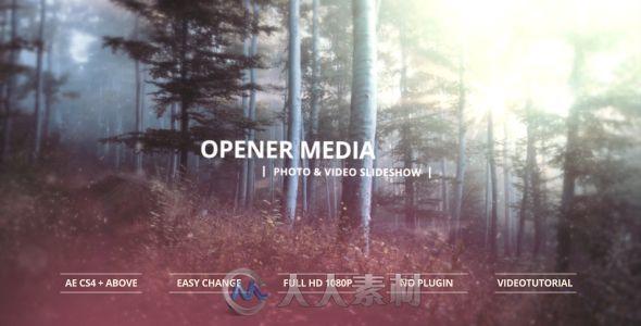 朦胧世界展示动画AE模板 Videohive Opener Media Photo & Video Slideshow 13385570