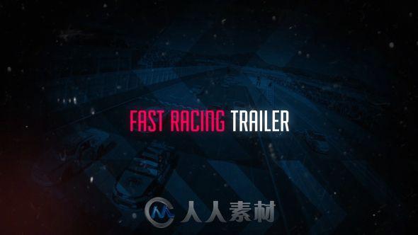 超酷极速赛车包装动画AE模板 Videohive Fast Racing Trailer 13576047