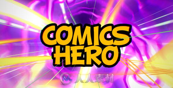 超酷卡通元素包装动画AE模板 Videohive Comics Hero Broadcast Pack 15644476