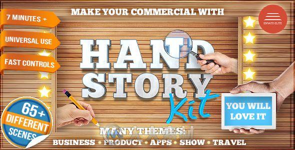 超级生活细节演绎推广动画AE模板合辑 Videohive Hand Story Kit Professional Explainer Builder Cool Product and Services Commercial 15678999
