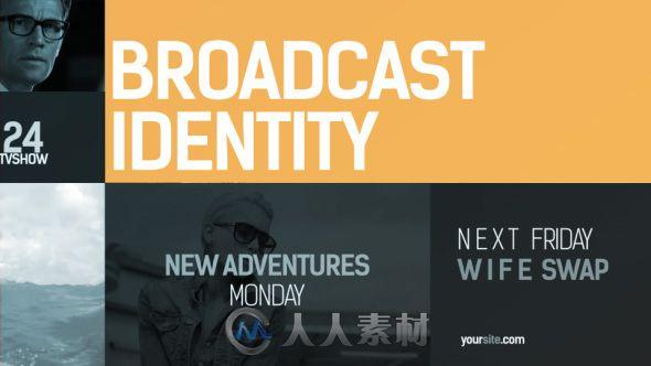 动态生活清爽设计展示动画AE模板 Videohive Broadcast Identity pack 15587865