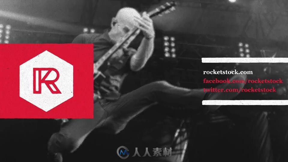 前卫自由摇滚风格展示动画AE模板 ROCKETSTOCK Anarchy Edgy Graphics Pack