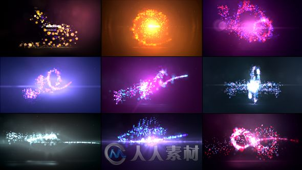 9组唯美粒子光效Logo演绎动画AE模板 Videohive Quick Particles Logo Reveal Pack 9in1 15072389