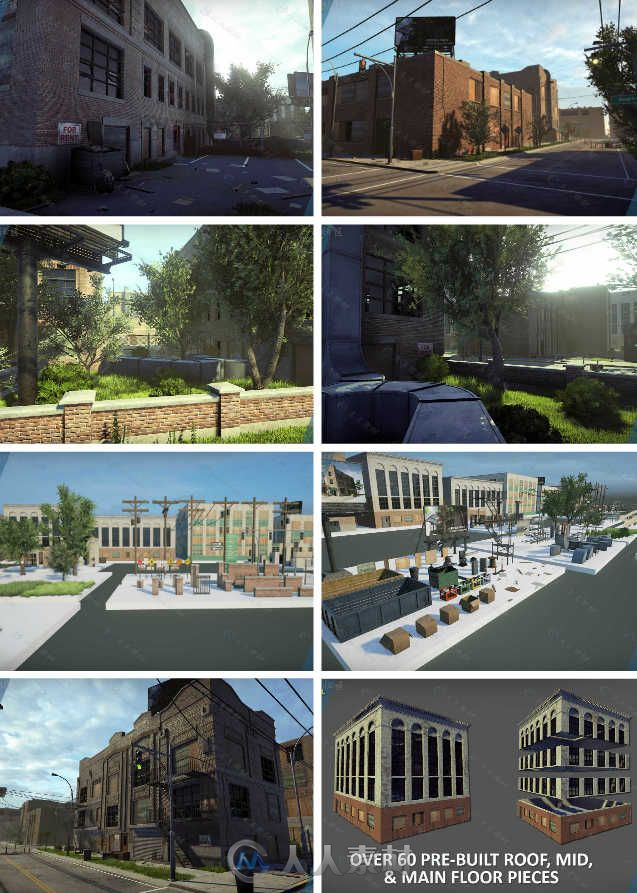 Unreal Engine虚幻游戏引擎扩展资料 - 工业城市 UNREAL ENGINE MARKETPLACE INDUSTRIAL CITY