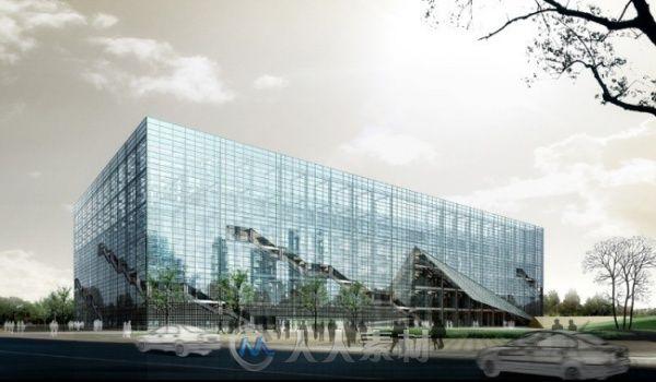 玻璃建筑大厦3D模型