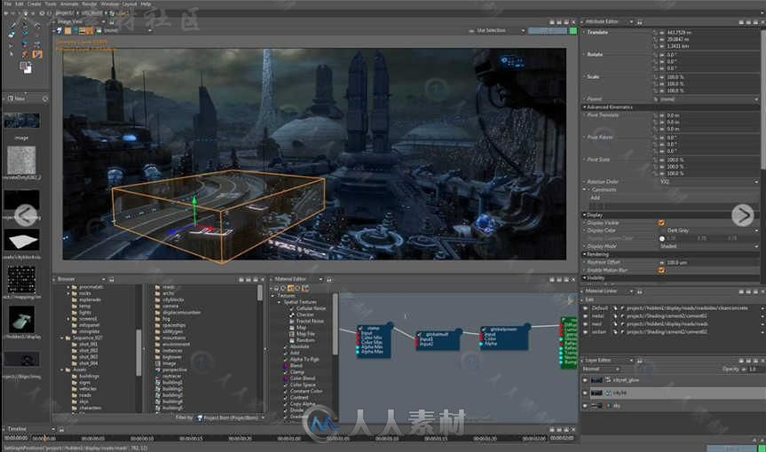 Isotropix Clarisse IFX动画渲染软件V4.0 SP6版