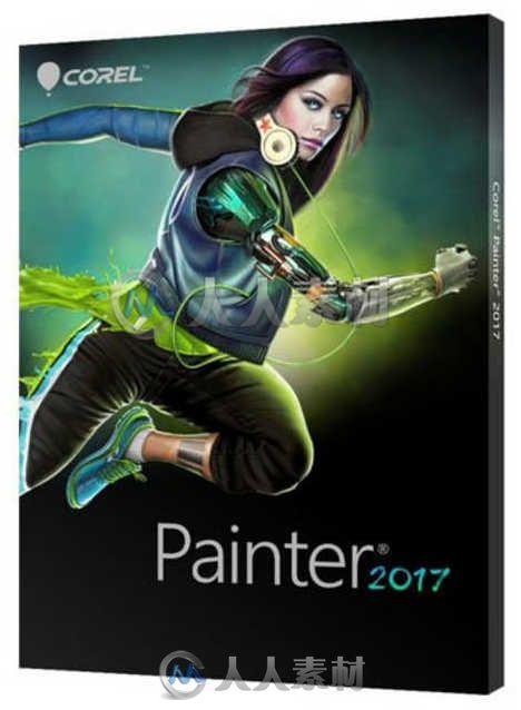 Painter数字美术绘画软件V2017版 COREL PAINTER 2017 WIN XFORCE