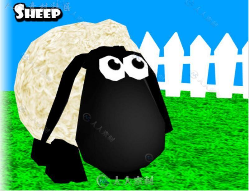 动画卡通羊卡通角色模型Unity3D素材资源