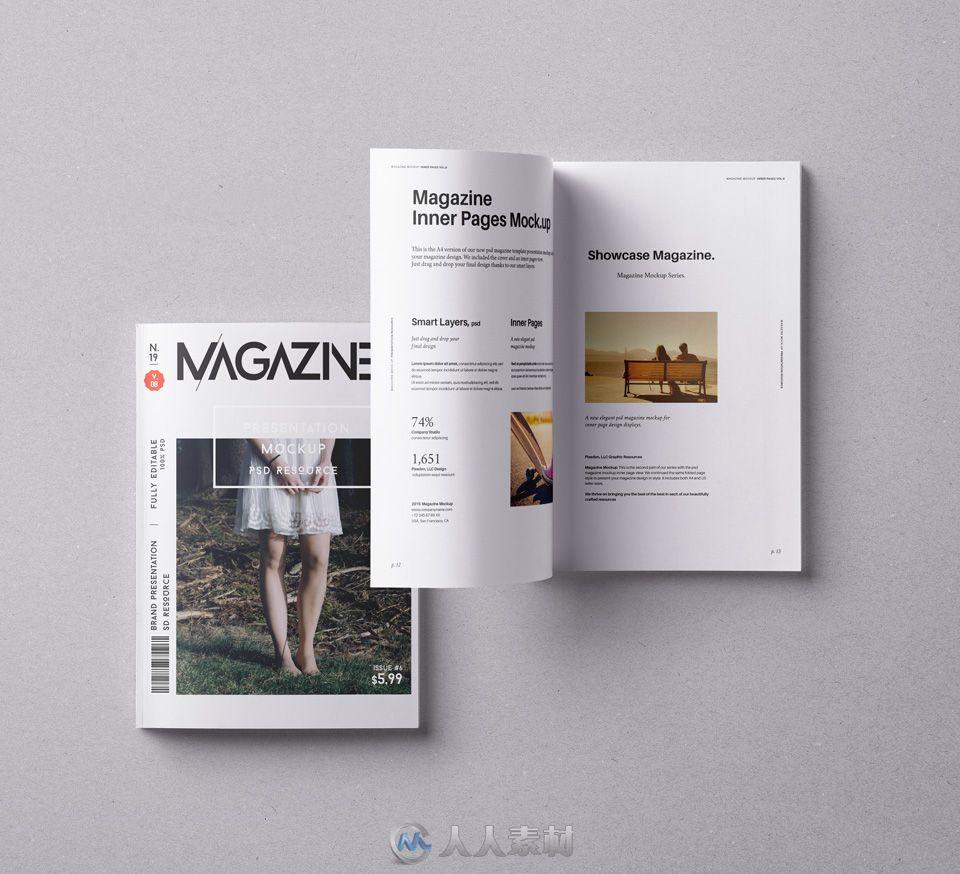 杂志展示第八版PSD模板