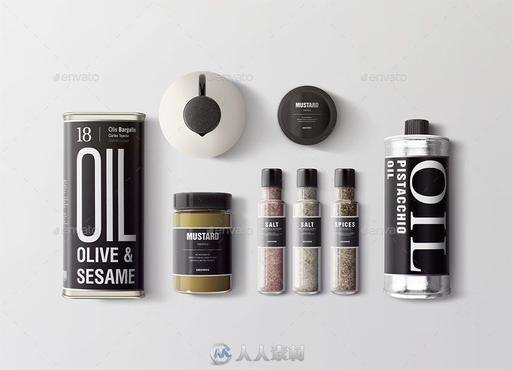 调味品包装展示PSD模板