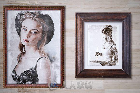 肖像旧化艺术特效PS动作