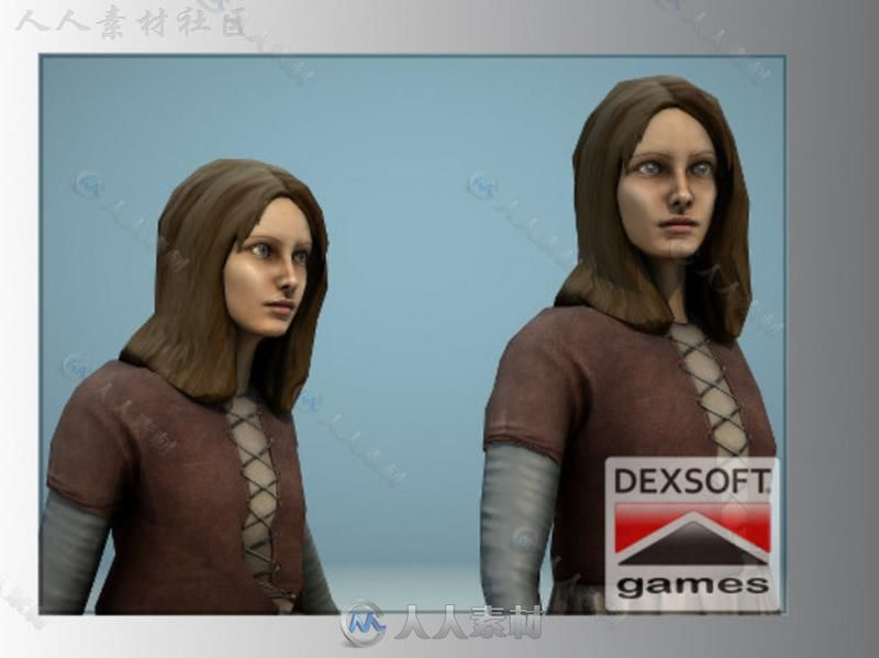 中世纪女孩幻想人形生物角色模型Unity3D素材资源