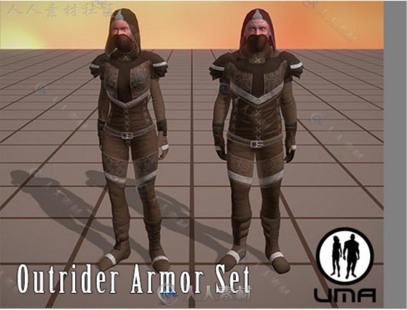 UMA 2程式化盔甲UMA角色模型Unity3D素材资源
