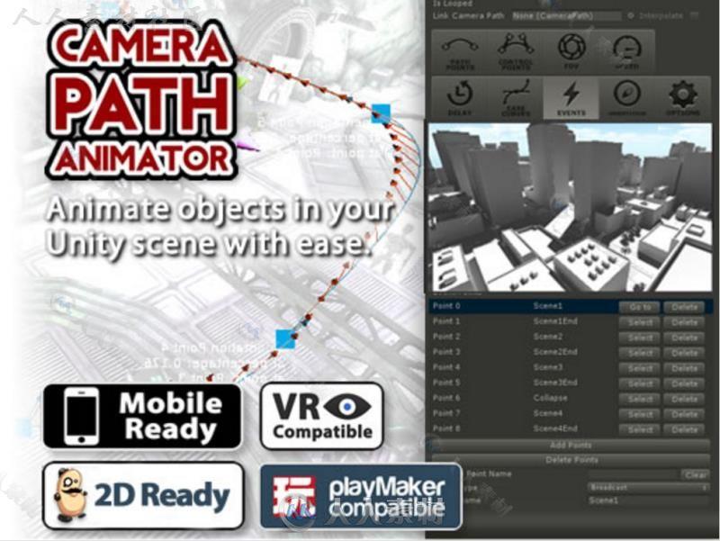 相机路径动画过场动画曲线动画动作编辑器扩充Unity素材资源