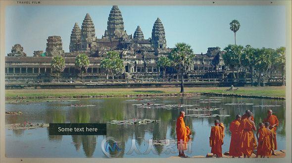 现代旅行地图幻灯片相册动画AE模板