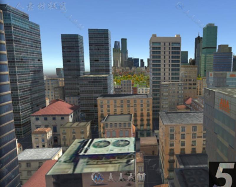 纽约市建筑城市环境模型Unity3D素材资源