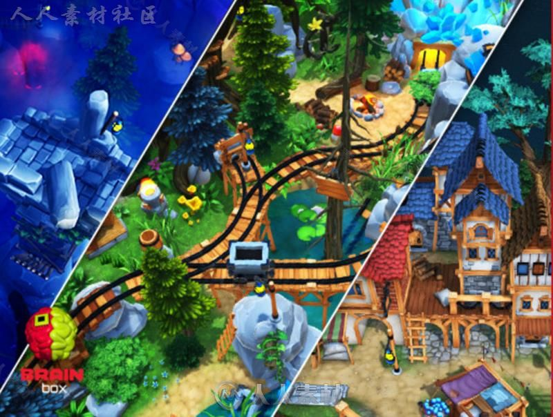 村庄幻想环境模型Unity3D素材资源