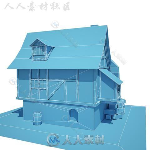 房屋室外道具模型Unity3D素材资源
