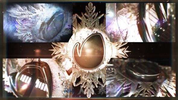 时尚史诗冬季3D标志动画LOGO演绎AE模板