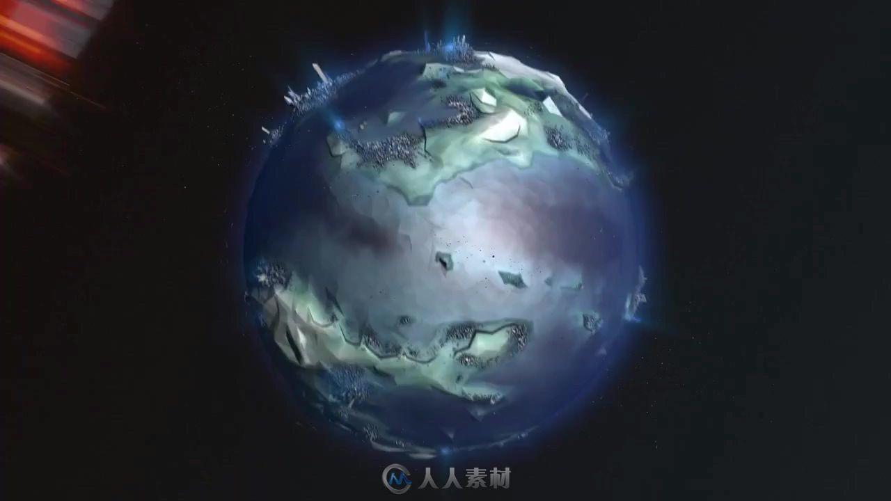 星球冲撞展示视频素材